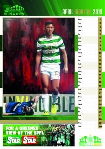 Celtic AICSC 2019 Calendar April