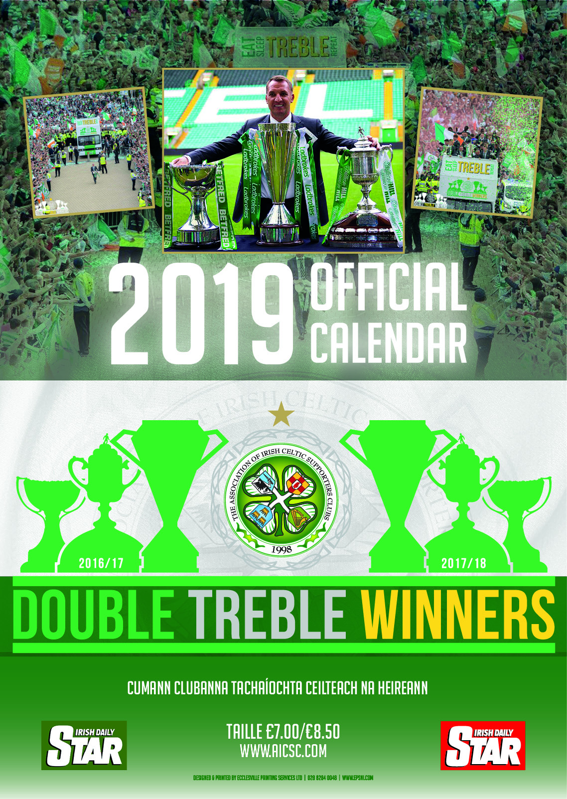 Aicsc Calendar 2019 Aicsc Assocation Of Irish Celtic Supporters